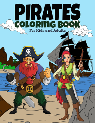 Pirate  Coloring Book for Kids and Adults